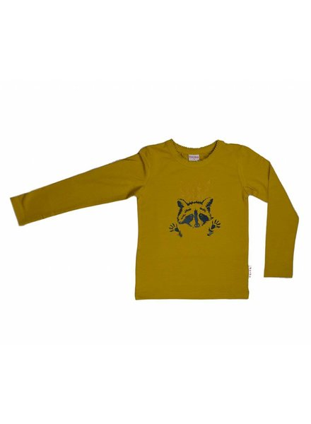 longsleeve Racoon - yellow