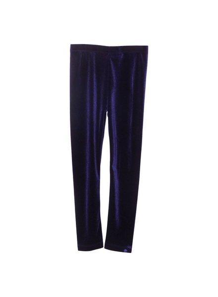 legging - navy velvet