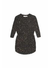 dress VIGDIS - jet black flakes gold