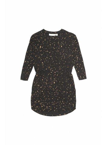 OUTLET // dress VIGDIS - jet black flakes gold