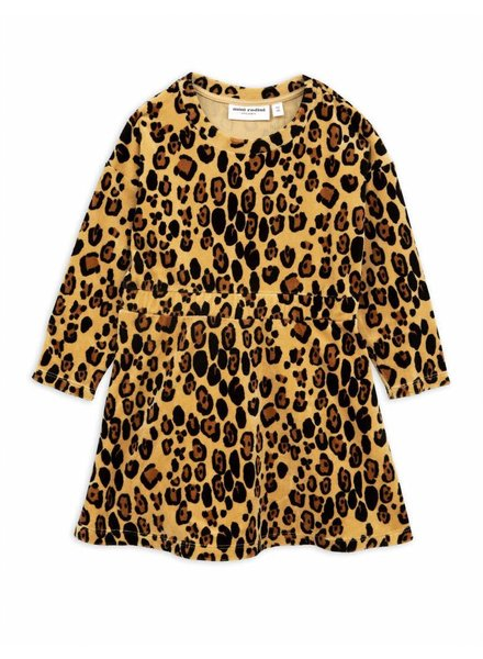 dress Leopard Velour - beige