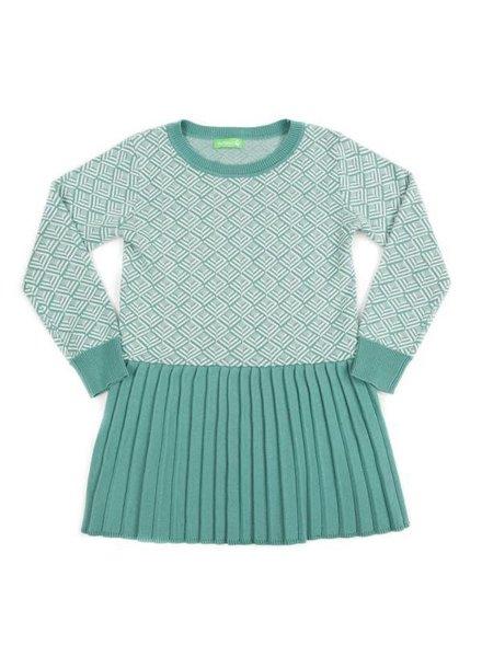 dress CHARLINE - marshmallow/sage green