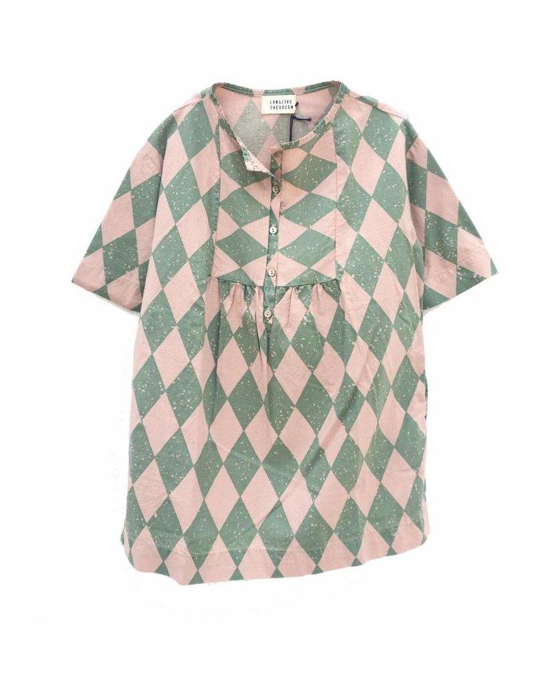Dress - Green diagonals
