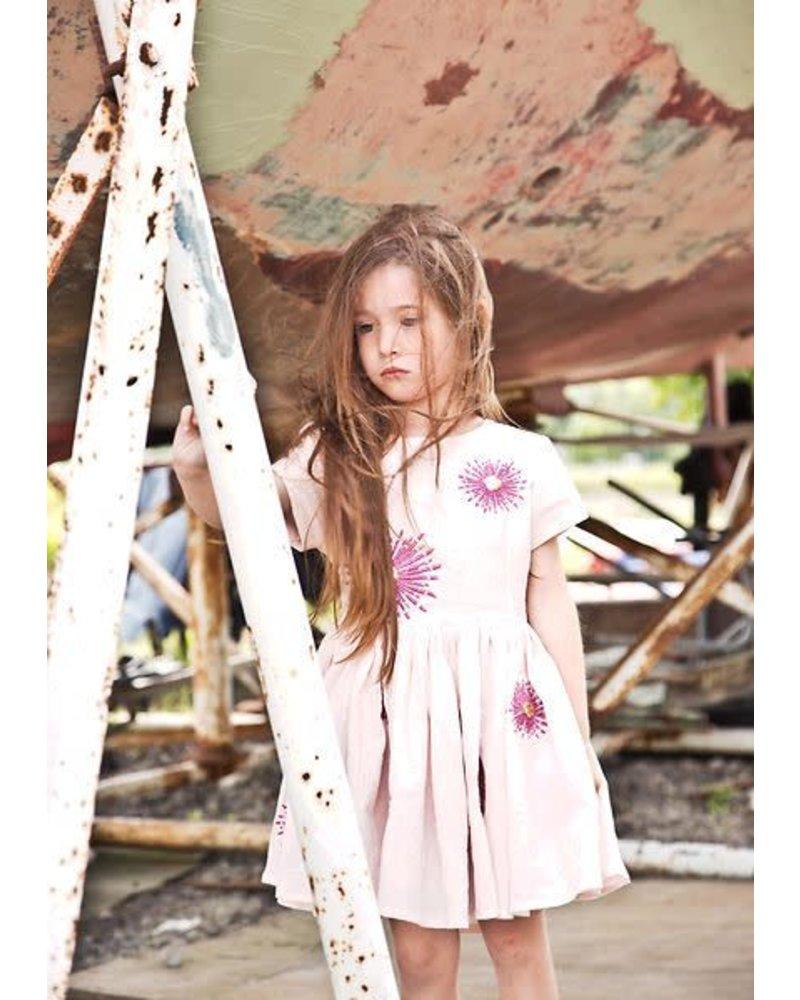 dress - Jelsa crepe rose