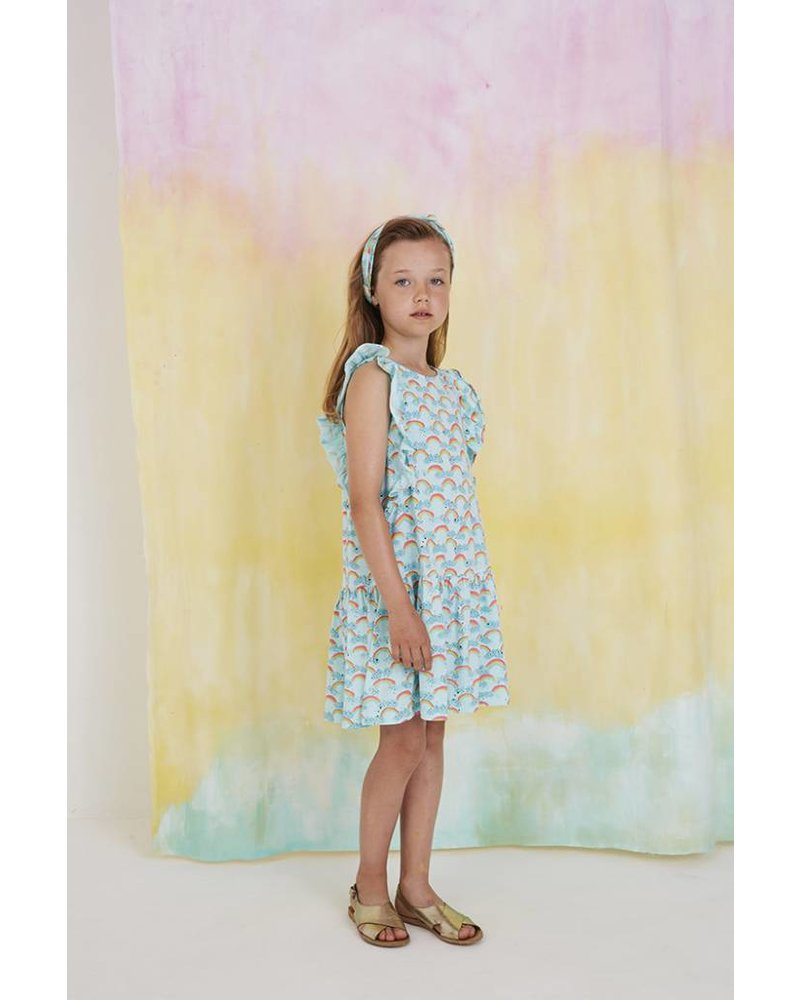 Dress - Alberte rainbow blue tint