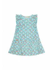 OUTLET // Dress - Alberte rainbow blue tint