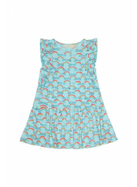 Dress - Alberte rainbow blue tint
