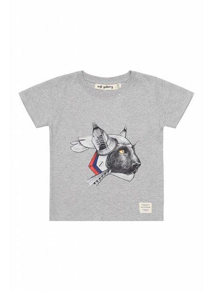 OUTLET // Tshirt - Bass robotic light grey melange