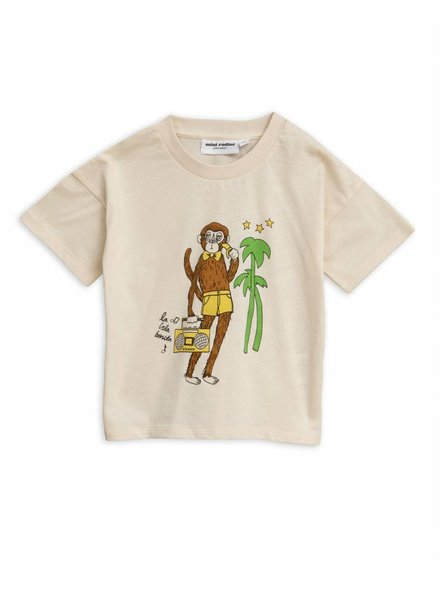 T-shirt - Cool monkey offwhithe