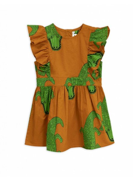 Dress - Crocco ruffled light brown