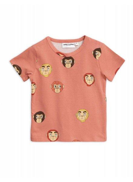 T-shirt - Monkeys pink