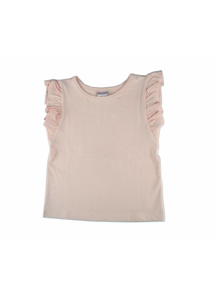 OUTLET // T-shirt - Ruffle pink