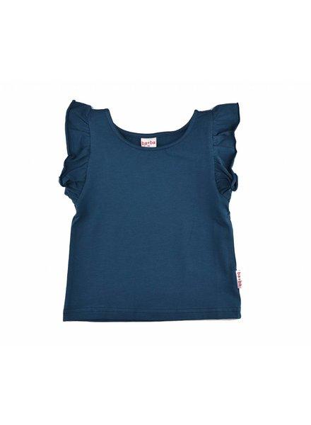 T-shirt - Ruffle dark blue