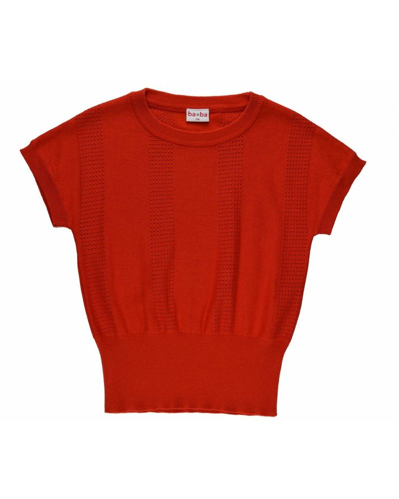 T-shirt - Knitted red