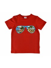T-shirt - Sunglasses Red
