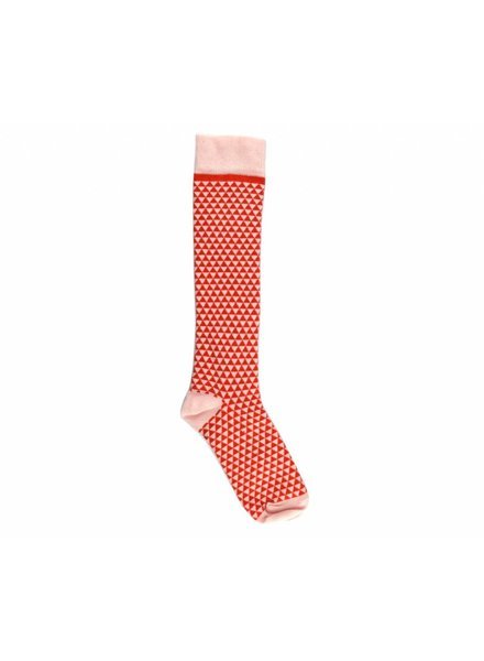 Kneesocks - Bicolor Red