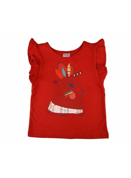 T-shirt - Red Ruffle Rabbit