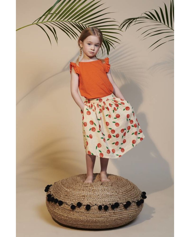 Top - Eline red orange