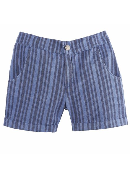 OUTLET // Short - Rayure marine