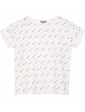 OUTLET // t-shirt - Ecru pommes rouges