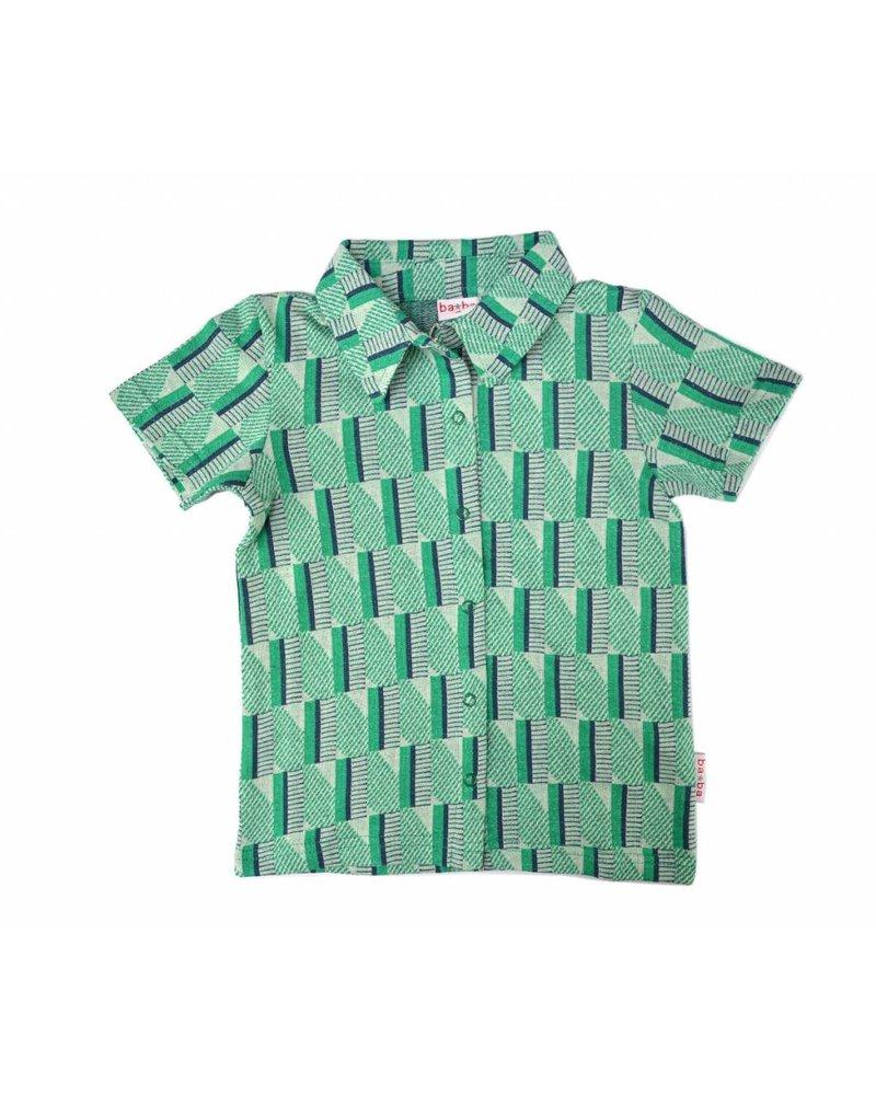 Shirt Green Stripes