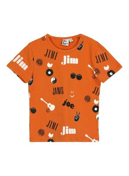 T-shirt - Jim Jou Janis Jimi Rust