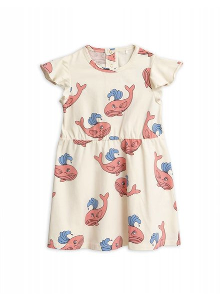 Wing dress - Whale pink