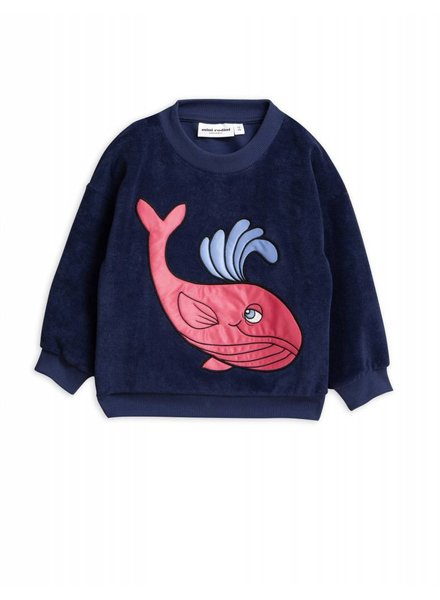 Sweater - Terry whale navy