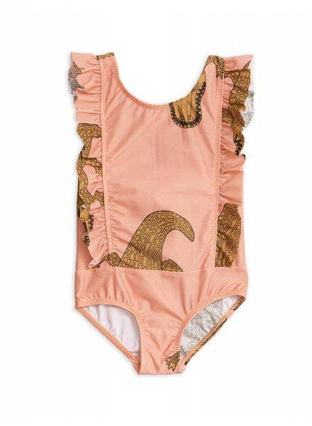 OUTLET // Swimsuit - Crocco ruffled pink