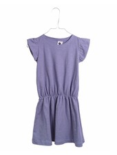 dress ruffle - blue