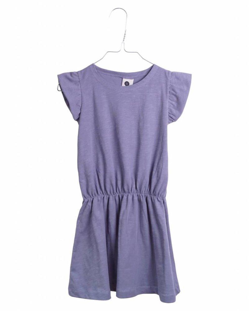 dress ruffle - blue