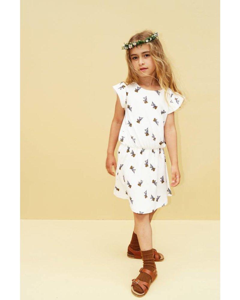 dress Rejfan ruffle - off white