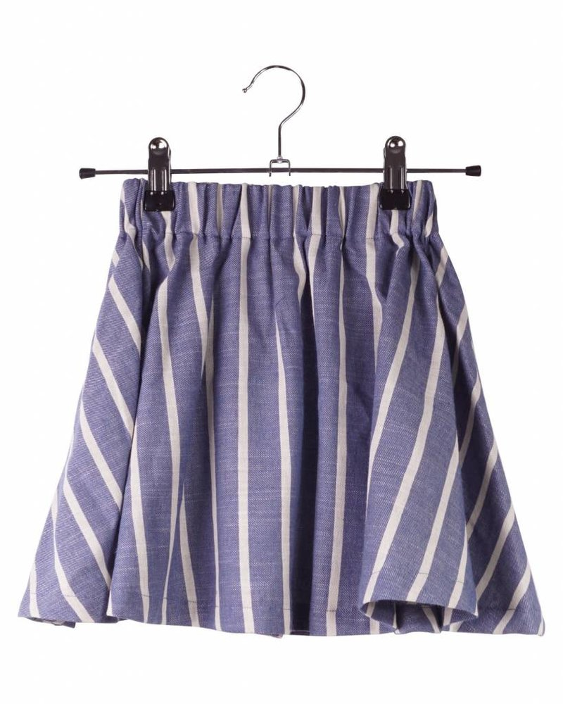 skirt Emma - stripes blue/ off white