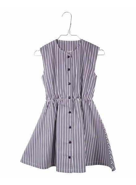 dress Ingeborg - vintage striped navy