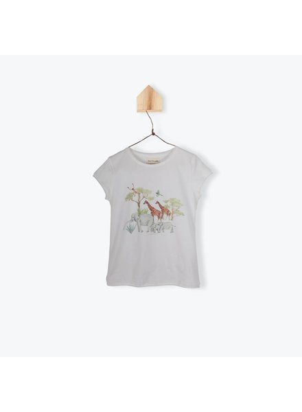 T-shirt - Jungle Family Ecru
