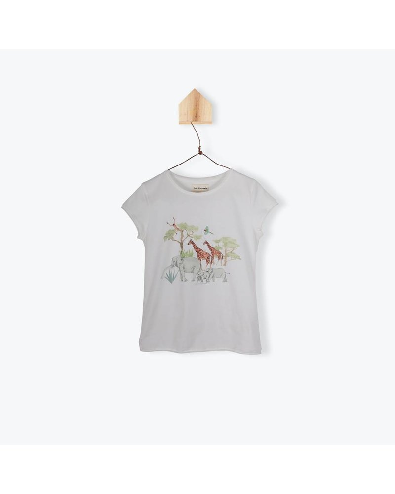T-shirt - Jungle Family Ecru