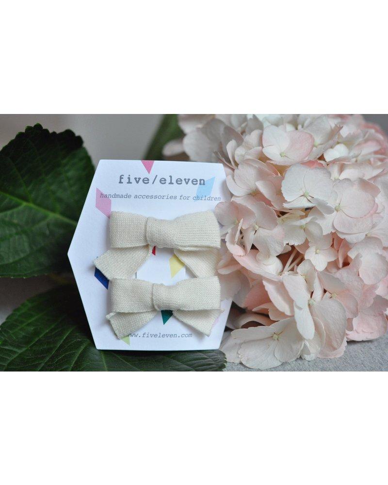 Hair accessories - japanese bows snow white