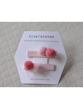 Hair accessories - pair of pompons cotton candy