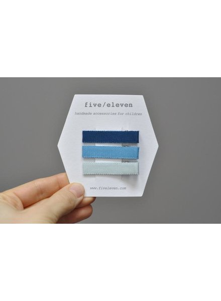 Hair accessories - set of flat clips blue whale