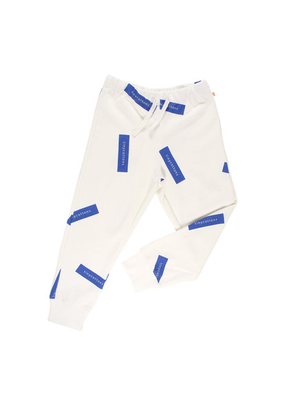 OUTLET // sweatpants TINY - off-white / blue