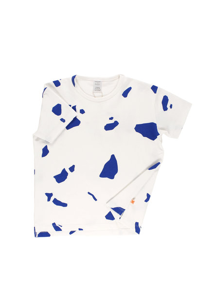 OUTLET // oversized shirt cut outs - off white / blue