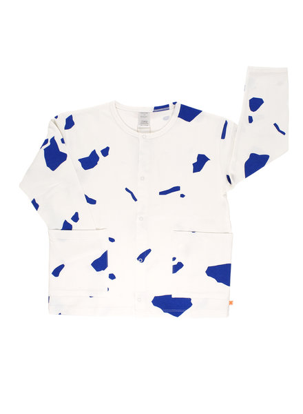 OUTLET // cardigan cut outs - off white / blue