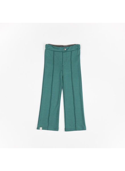 OUTLET // box pants Hecco - silver pine melange