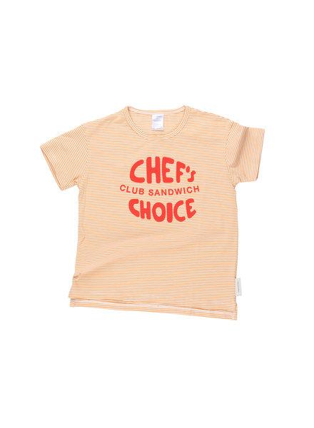 OUTLET // t-shirt 'club sandwich' - off white/light brick/carmin