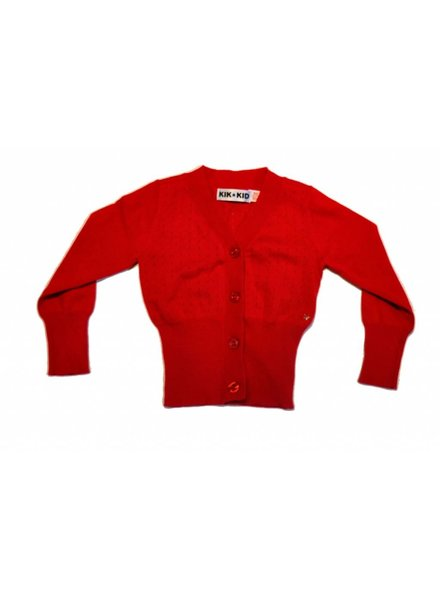 OUTLET // cardigan knitted - red