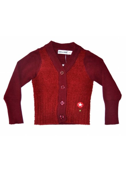 OUTLET // cardigan deep red