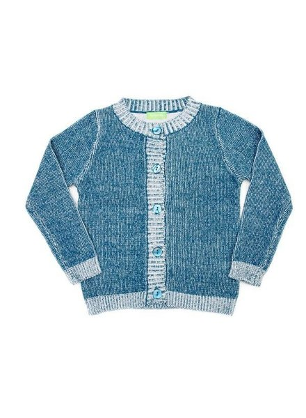 OUTLET // cardigan Charlie knit - petrol