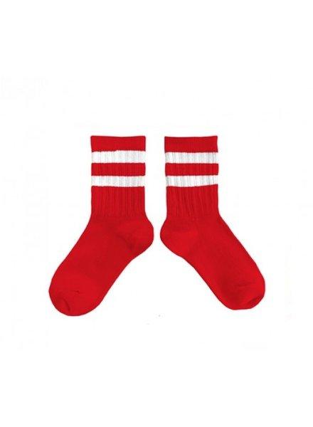 sportsokken - rayures vraie rouge