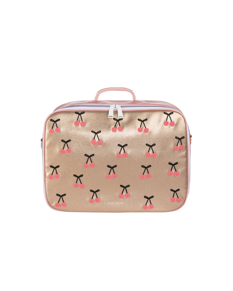 Koffer Mini Cherry Pompon