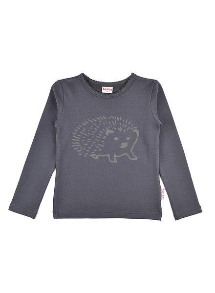 Longsleeve girls - Hedgehog Dark Grey